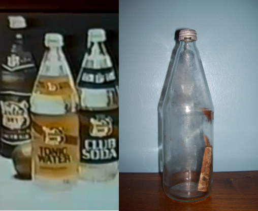 Freeland and Canada Dry Bottles Side by Side