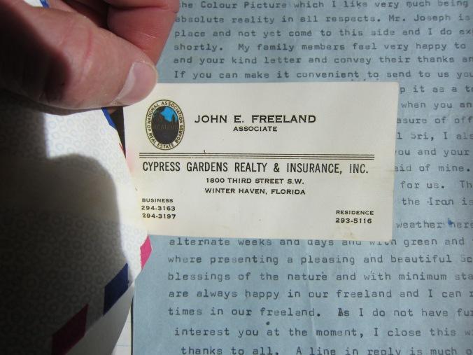 Freeland Original Business Card