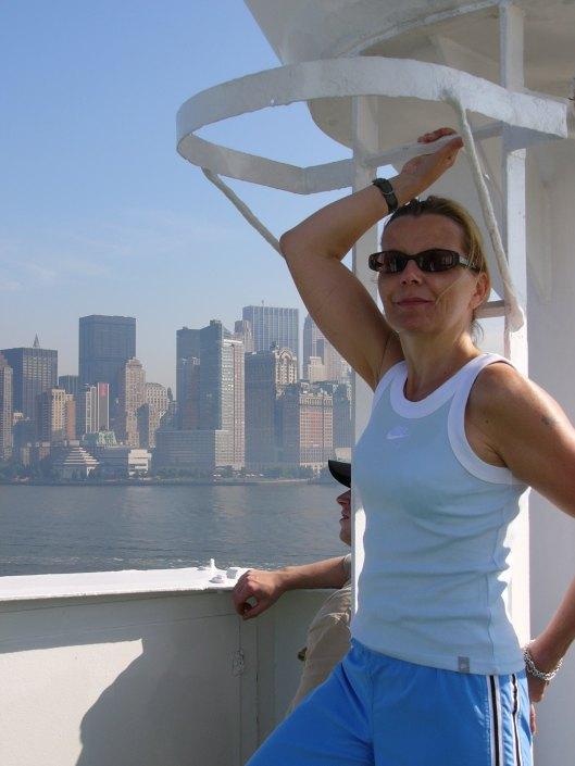 Sabine Cruising into New York City on Maxim Gorkiy