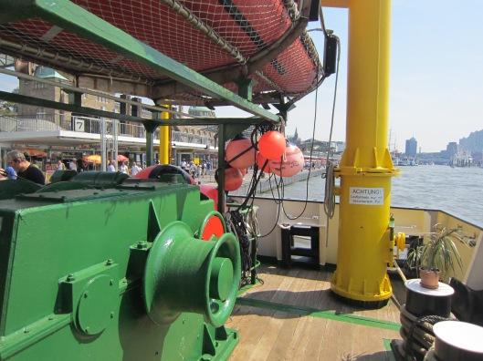 Orange Buoys on Wega Research Vessel