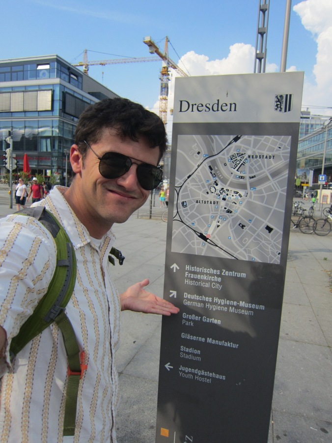 Me in Dresden Just Arrived by Map