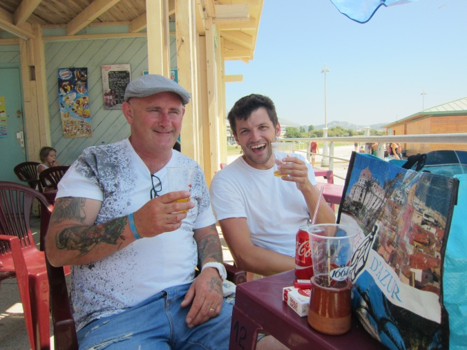 Me and Clinton at Beach Bar in Marseille