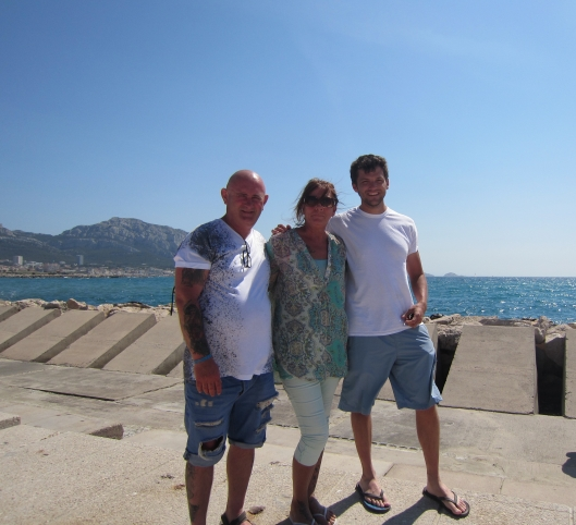 Me, Clinton, and Gwen in Marseille