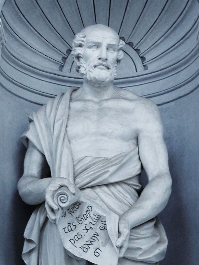 Theophrastus with Scroll