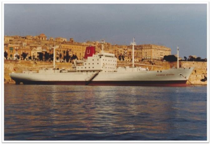 Caribbean Universal Docked Valetta Grand Harbour 13 November 1983