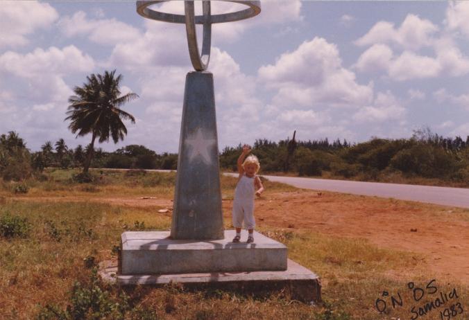 Sammie Euridge on the Equater 1983