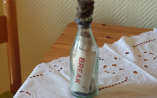 Winkler 108 Year Old Message in a Bottle