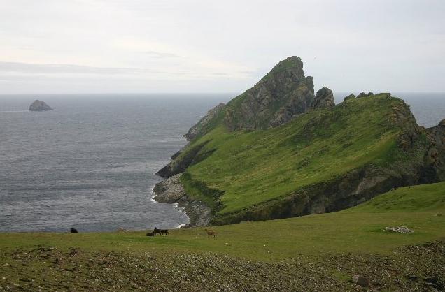 Dun on St_Kilda. Wikipedia user Bob Jones