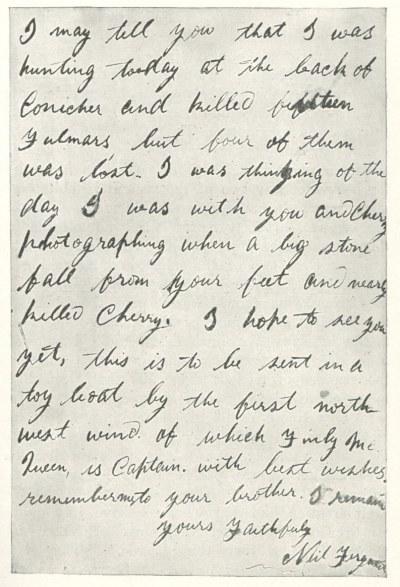 St. Kilda letter to Richard Kearton part two